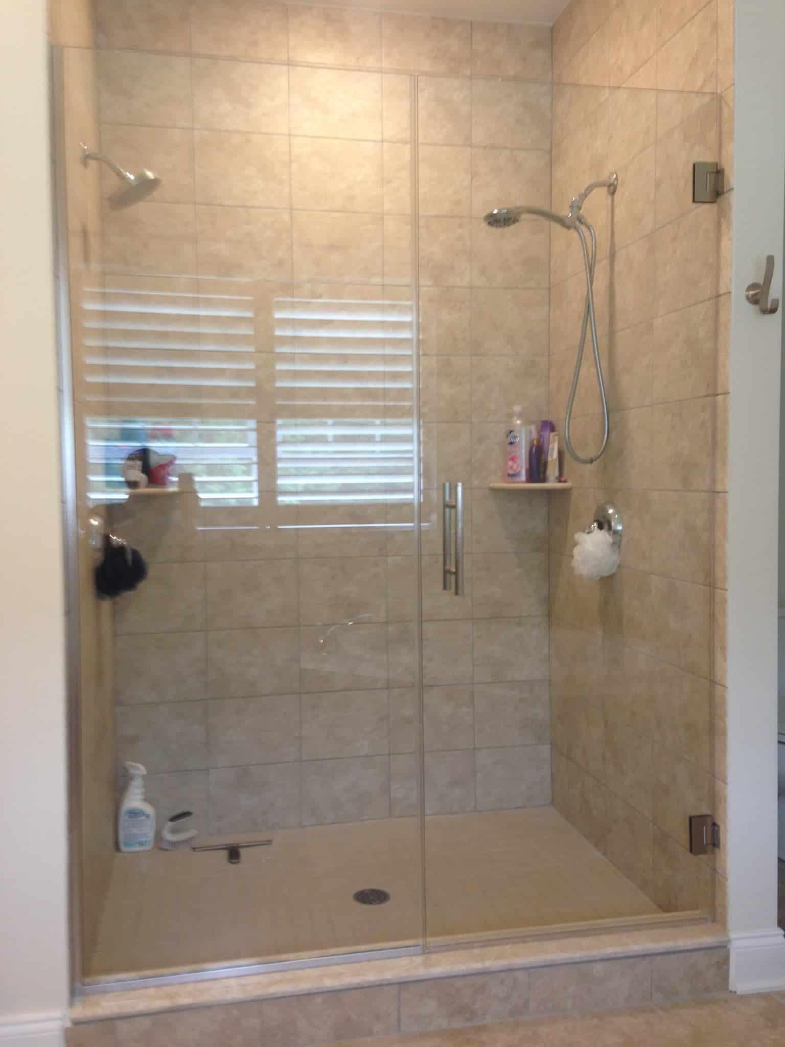Frameless Shower Enclosure Door And Panel
