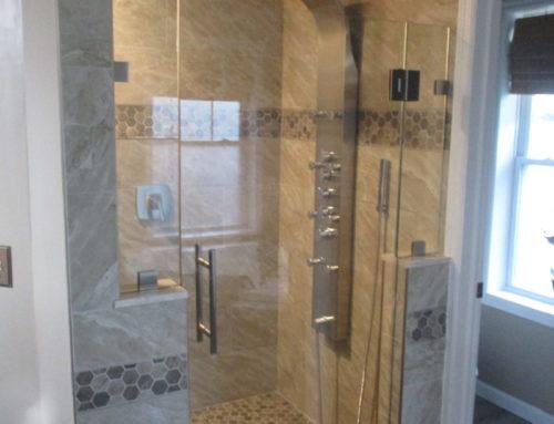 Frameless Shower Door With Buttress Absolute Shower Doors